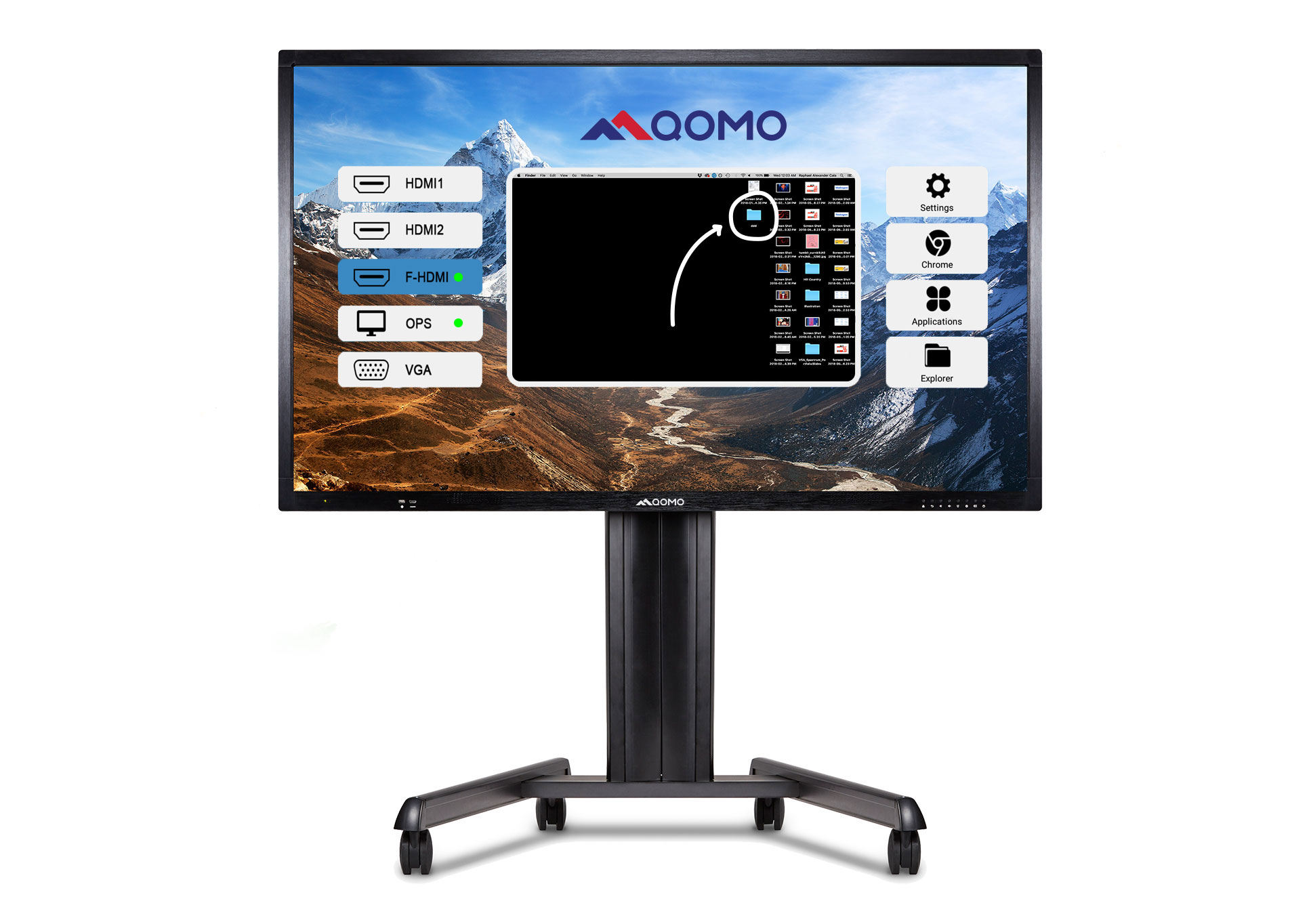 journey 13 series interactive displays digital display qomo
